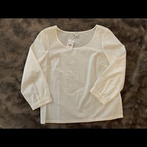 NWT JCrew Factory cotton poplin shirt